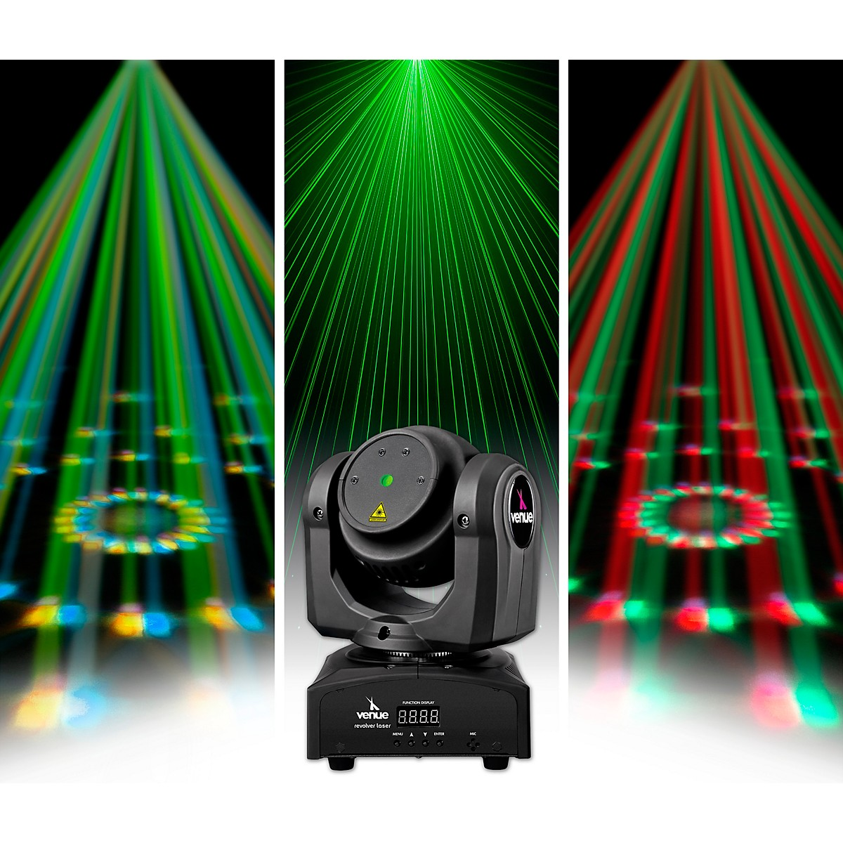 Venue Revolver Laser Dual-Sided Moving Head Effect Light with Laser and Moonflower