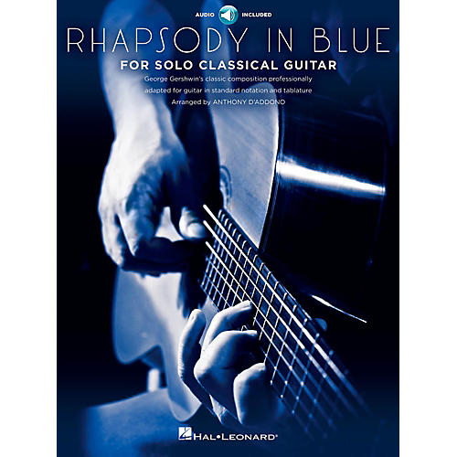 Hal Leonard Rhapsody In Blue For Solo Classical Guitar Book/CD