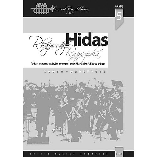 Editio Musica Budapest Rhapsody for Bass Trombone and Wind Band Concert Band Composed by Frigyes Hidas