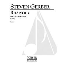 Lauren Keiser Music Publishing Rhapsody for Oboe and Strings LKM Music Series by Steven Gerber