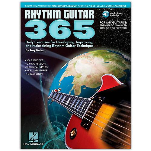 Hal Leonard Rhythm Guitar 365 - Daily Exercises Book/Online Audio
