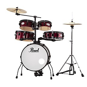 pearl rhythm traveler drum set with cymbals hardware guitar center. Black Bedroom Furniture Sets. Home Design Ideas