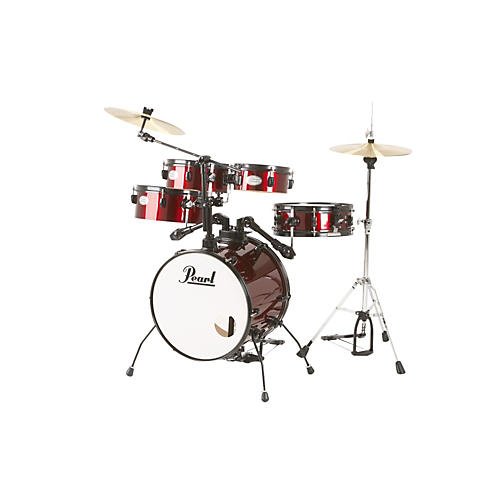 pearl rhythm traveler drum set with cymbals hardware red wine guitar center. Black Bedroom Furniture Sets. Home Design Ideas