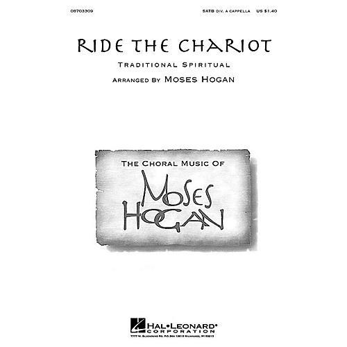 Hal Leonard Ride the Chariot SATB a cappella arranged by Moses Hogan