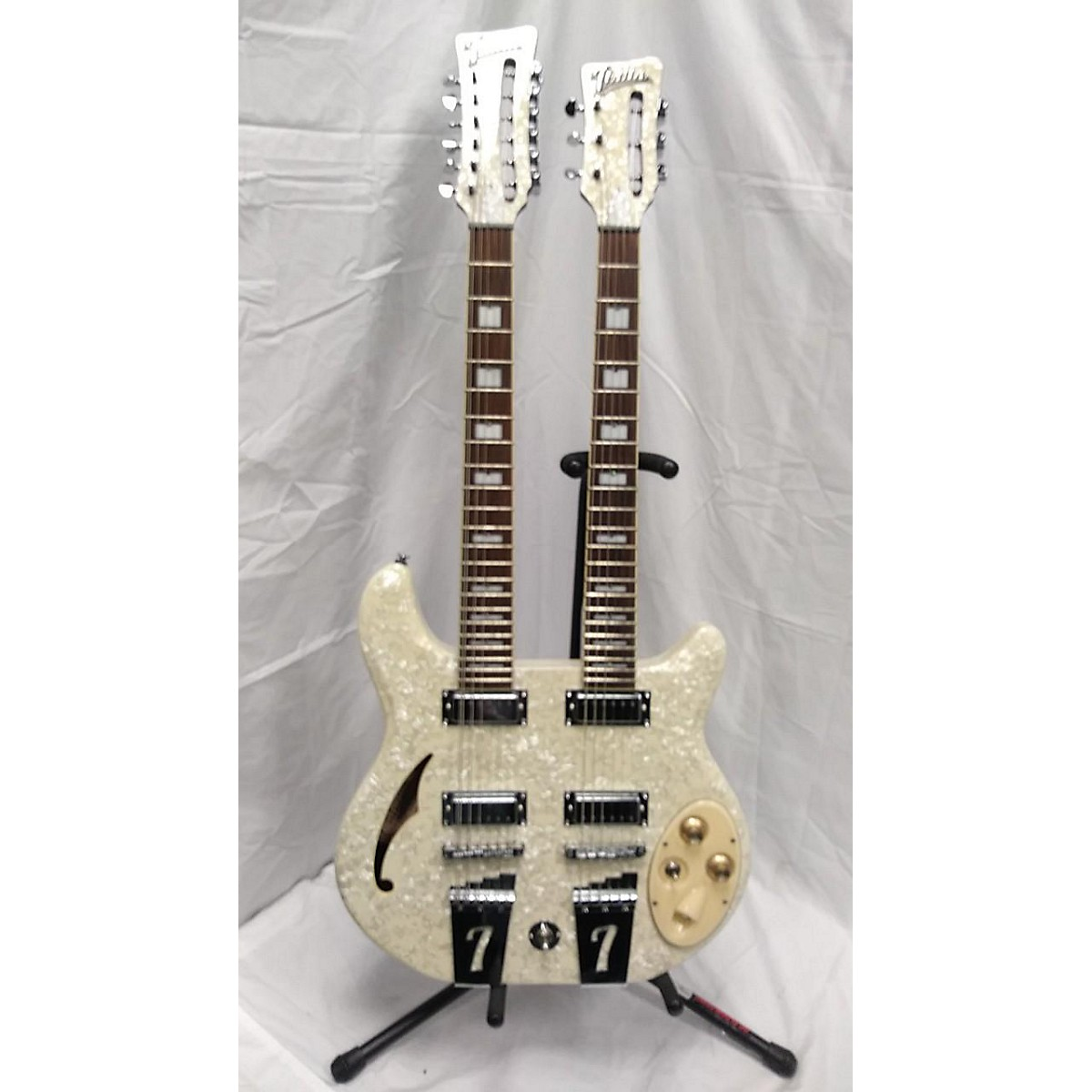 Italia Rimini Double Neck 6/12 String Hollow Body Electric Guitar