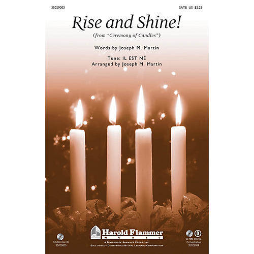 Shawnee Press Rise and Shine! (from Ceremony of Candles) SATB arranged by Joseph M. Martin