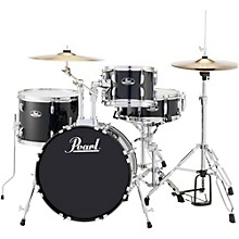 Roadshow 4-Piece Jazz Drum Set Jet Black