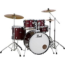 Roadshow 5-Piece Drum Set with Hardware and Zildjian Planet Z Cymbals Red Wine