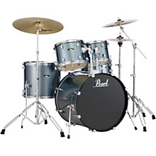 Roadshow Complete 5-Piece Drum Set with Hardware and Zildjian Planet Z Cymbals Charcoal Metallic