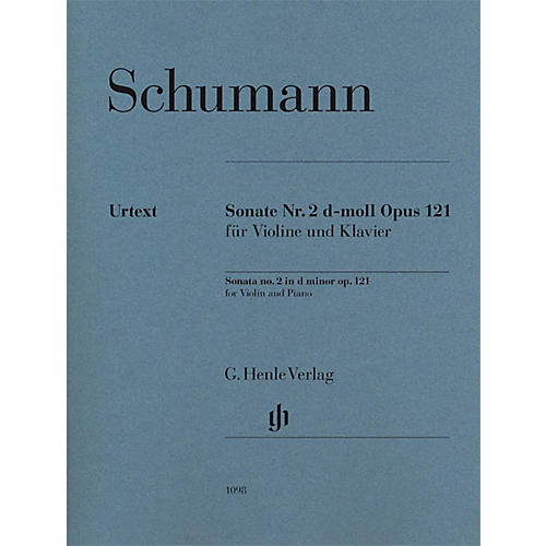 G. Henle Verlag Robert Schumann - Violin Sonata No. 2 in D minor, Op. 121 Henle Music Folios Softcover by Robert Schumann