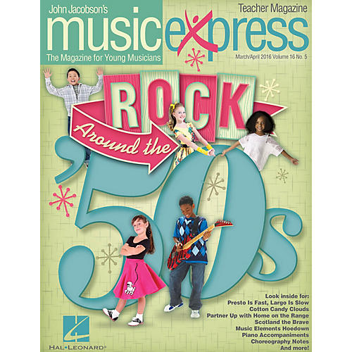 Hal Leonard Rock Around the '50s (March/April 2016) Teacher Magazine w/CD by Ritchie Valens Arranged by Roger Emerson