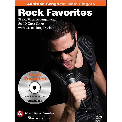 Hal Leonard Rock Favorites - Audition Songs for Male Singers Book/CD