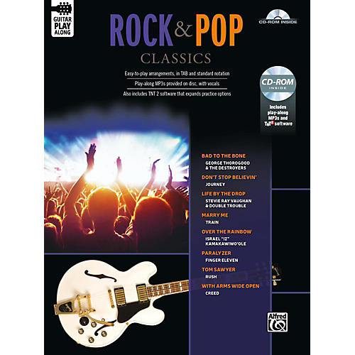 Alfred Rock & Pop Classics Guitar Play-Along Guitar TAB Book & CD-ROM Songbook