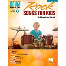 Hal Leonard Rock Songs for Kids - Drum Play-Along Volume 41 Book/Audio Online