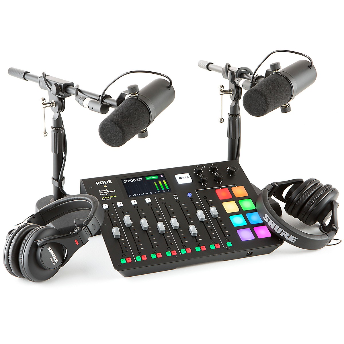 Rode Rodecaster Pro 2 Person Podcasting Bundle With SM7B & SRH840