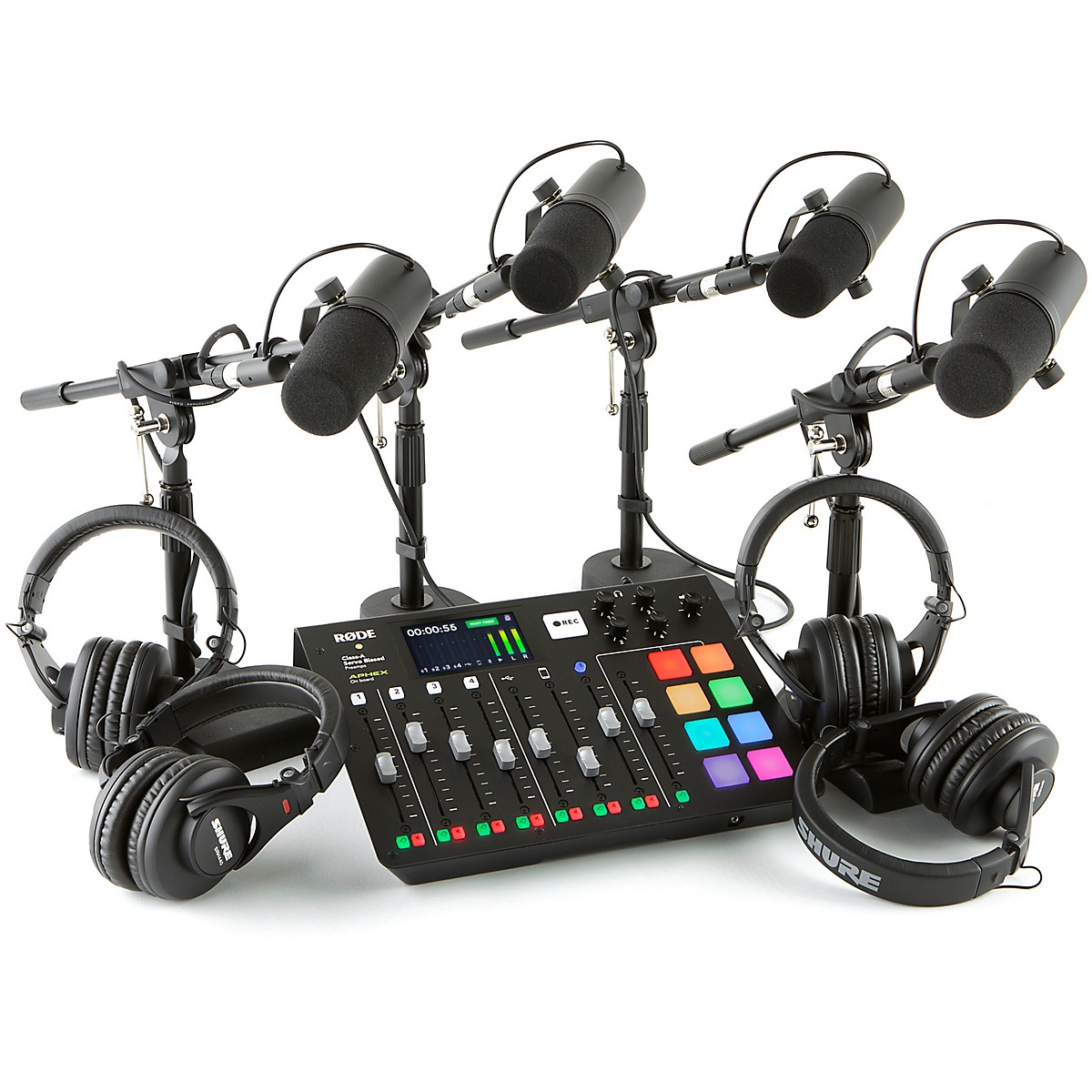 Rode Rodecaster Pro 4 Person Podcasting Bundle With SM7B & SRH440