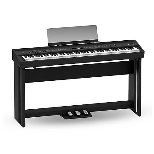 Roland Roland FP-90 Digital Piano Black with Stand and Pedal Board Black