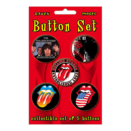 Gear One Rolling Stones 5-Piece Button Set