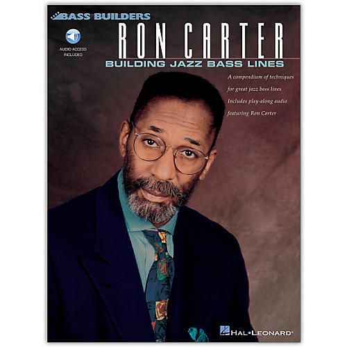 Hal Leonard Ron Carter - Building Jazz Bass Lines (Book/Online Audio)