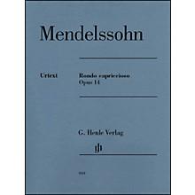 G. Henle Verlag Rondo Capriccioso Op. 14 Piano Solo By Mendelssohn