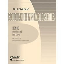 Rubank Publications Rondo (from Suite in G) (Bassoon Solo with Piano - Grade 3) Rubank Solo/Ensemble Sheet Series