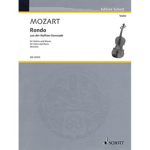 Schott Rondo from the Haffner-Serenade, KV. 250 (Kreisler Masterpieces for Violin) Schott Series