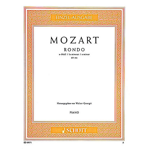 Schott Rondo in A Minor, KV 511 Schott Series