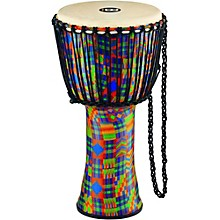 Rope Tuned Djembe with Synthetic Shell and Goat Skin Head 12 in. Kenyan Quilt