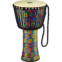 Rope Tuned Djembe with Synthetic Shell and Goat Skin Head 14 in. Kenyan Quilt