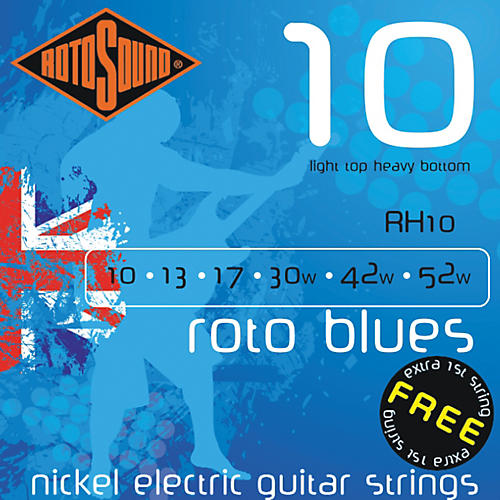 Rotosound Roto Blues Light Top/Heavy Bottom Electric Guitar Strings