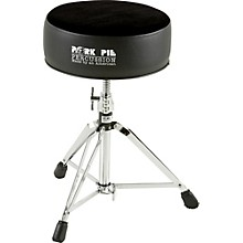 Pork Pie Round Drum Throne Level 1 Solid Black