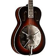 Round Neck Biscuit Bridge Acoustic-Electric Resonator Guitar Vintage Burst