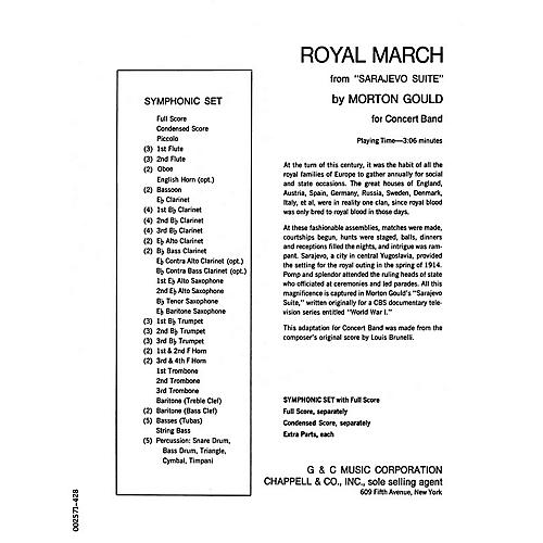 G. Schirmer Royal March (from Sarajevo Suite) (Full Score) Concert Band Level 4-5 Composed by Morton Gould