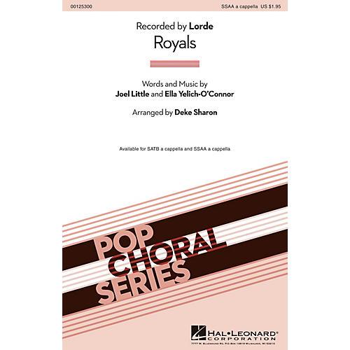 Hal Leonard Royals SSAA A Cappella