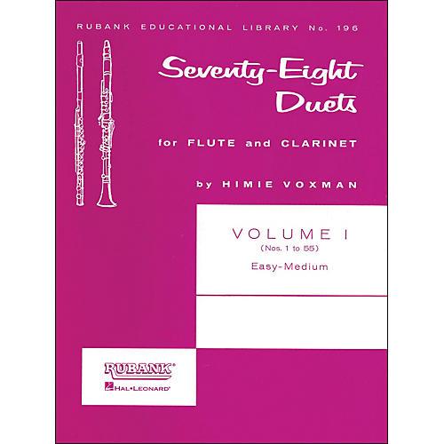 Hal Leonard Rubank 78 Duets for Flute And Clarinet Vol 1 Easy/Medium