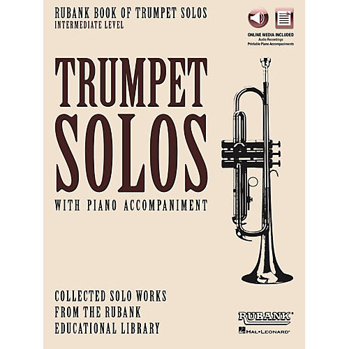 Hal Leonard Rubank Book of Trumpet Solos - Intermediate Level Book/Audio Online