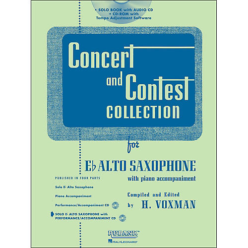Hal Leonard Rubank Concert And Contest Collection Alto Sax Book/Online Audio