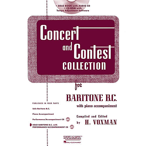 Hal Leonard Rubank Concert And Contest Collection Baritone B.C. Book/Online Audio