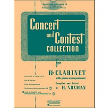 Hal Leonard Rubank Concert And Contest Collection Clarinet Book/Online Audio
