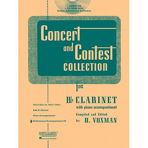 Hal Leonard Rubank Concert And Contest For Clarinet - Accompaniment CD