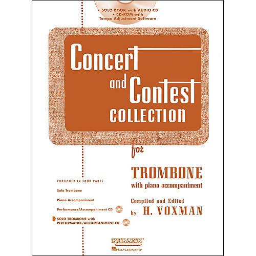 Hal Leonard Rubank Concert & Contest Collection Trombone Book/Online Audio