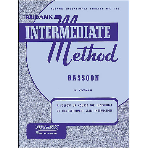 Hal Leonard Rubank Intermediate Methods - Bassoon