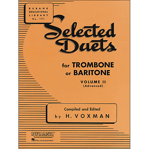 Hal Leonard Rubank Selected Duets for Trombone Or Baritone Vol 2