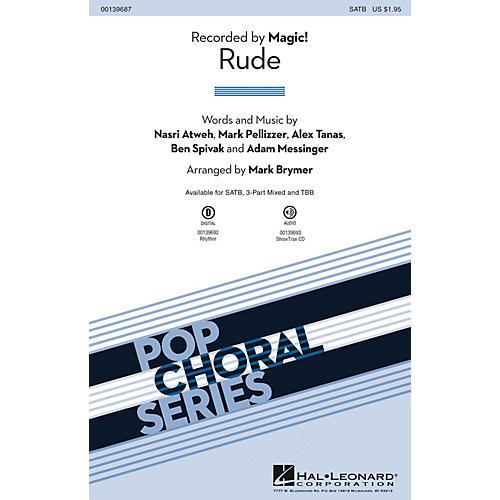 Hal Leonard Rude SATB by Magic! arranged by Mark Brymer