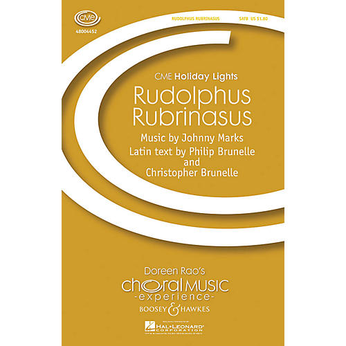 Boosey and Hawkes Rudolphus Rubrinasus (Rudolph the Red-Nosed Reindeer) SATB arranged by Philip Brunelle