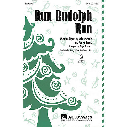Hal Leonard Run Rudolph Run 2-Part by Chuck Berry Arranged by Roger Emerson