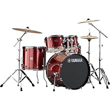 Rydeen 5-Piece Shell Pack with 22 in. Bass Drum Burgundy Glitter