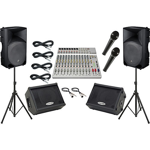alesis s 16 mackie thump th 15a mains and monitors package guitar center. Black Bedroom Furniture Sets. Home Design Ideas