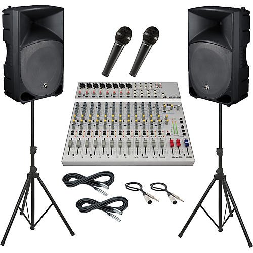 Alesis S-16 / Mackie Thump TH-15A PA Package