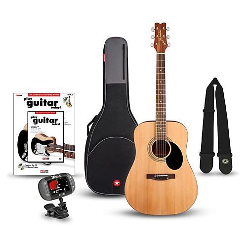 jasmine s 35 dreadnought acoustic guitar bundle natural guitar center. Black Bedroom Furniture Sets. Home Design Ideas